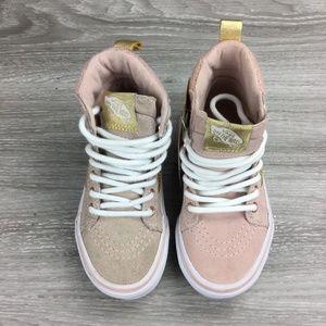 Vans SK8-Hi Sephia Rose/Metallic Shoes Toddler 11